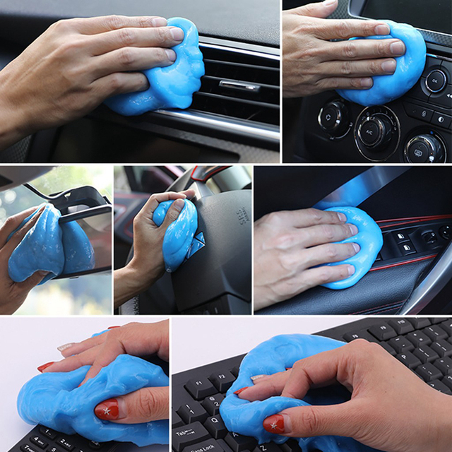 Multifunction Car Super Clean Mud Keyboard Cleaning Air Conditioner Vent Magic Soft Sticky Clean Glue Slime Dust Dirt Cleaner 2