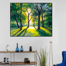 Canvas Art Oil painting Forest in the morning light Wall Decor Colorful Picture Modern Home Decoration For Living room Office the morning room свитер