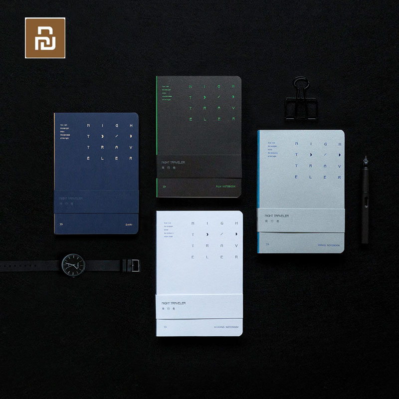 4colors Youpin Night Walker Series Notebook For Author Bright Silver Front Line Can 1809 Flat Writing Luminous Back