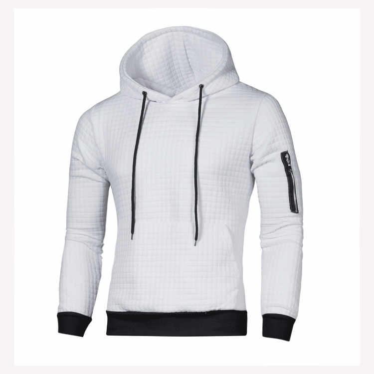 DIHOPE 2020 sweter mężczyźni jednolity pulower mężczyźni Casual sweter z kapturem jesień zima ciepłe Femme mężczyźni ubrania Slim Fit bluzy