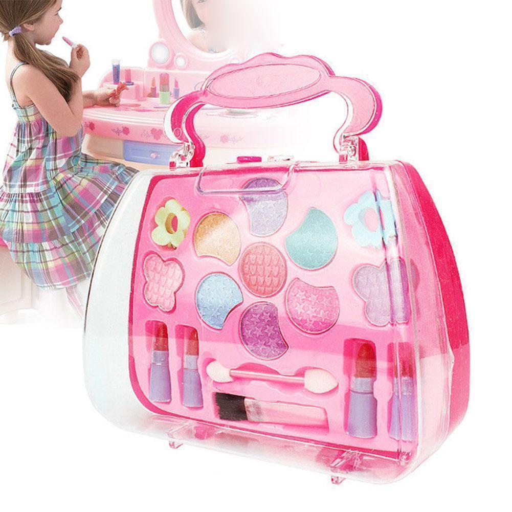 Pretend Play Girls Kit Safe Non-toxic Toys Makeup Set Preschool Kids Beauty Safety Toy For Children Girl Makeup GYH