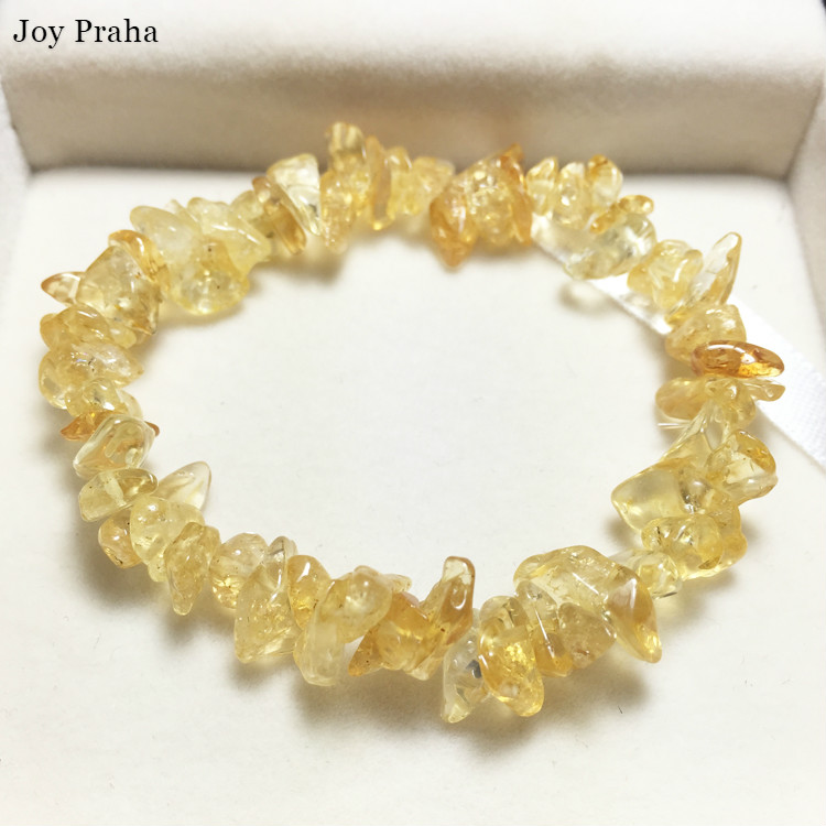 Natural Citrine Women Bracelet / Lucky Transport Crystal Gravel Bracelets Fashion Jewelry / Wholesale Dropshipping