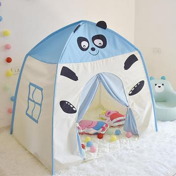 Children Teepee Play Tent Kids Play Tent Children Fort Canvas Canopy Play Tent Indoor Outdoor Portable Playhouse for Girls Boys