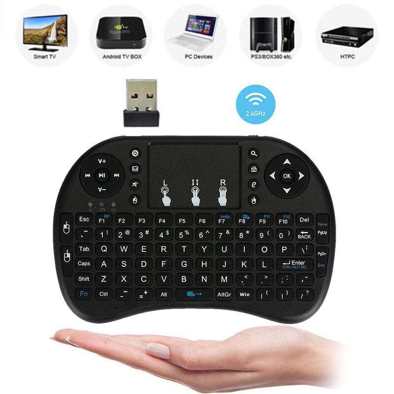 i8 2,4 ГГц Беспроводная мини-клавиатура с раскладкой QWERTY Мышь тачпад с приемником для приставка для телевизора PS4 HTPC Портативный сенсорный планшет клавиатура