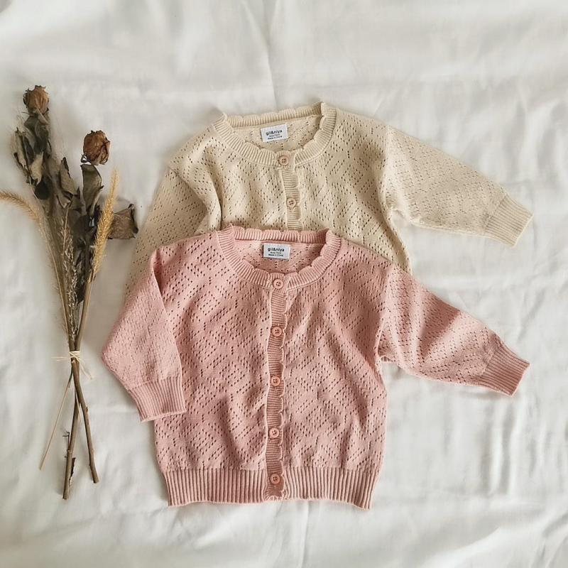 Infant Baby Girl Sweaters Spring Summer Baby Clothes Long Sleeve Knitted Sweaters Woolen Kids Tops Cardigan Sun Protection Coat