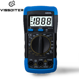 A830L Handheld LCD Digital Multimeter AC/DC Voltage Amp Current Resistance Tester Blue Backlight Meter(China)