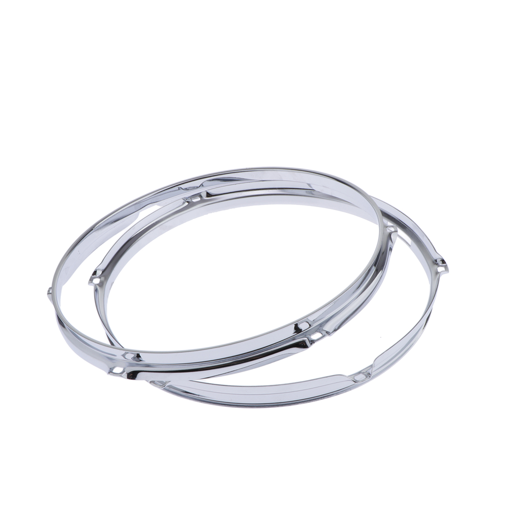 2 Pcs Solid 6 Lug Drum Hoop Snare Side Hoop (12 Inches 1.2mm)