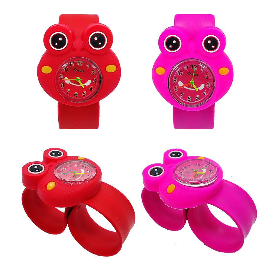3D Frog Children Watch For Boys Girls Gift Child Sports Watches Silicone Band Analog Quartz Watch Kids Watches Tadpole Best Gift