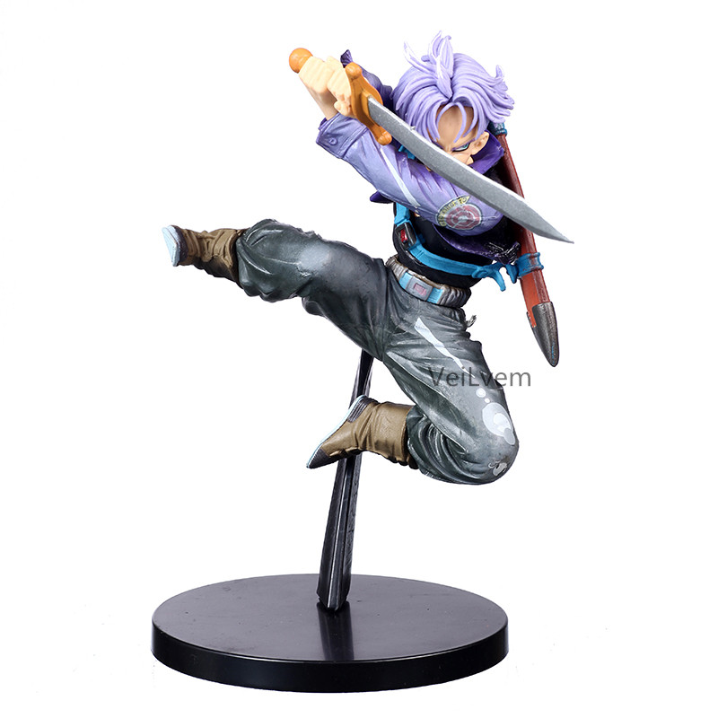 Dragon Ball Z BWFC Super Saiyan Trunks First Coming Jump Up Purple Hair Figure PVC Action Figure Model Dragonball Trunks Toys