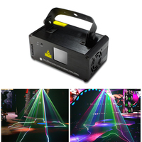 32 Patterns RGB DMX512 Laser Line Scanner Stage Light Music Activated 400mw Laser Projector With Remote DJ Party Disco Light