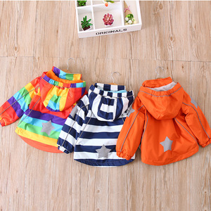 Image 3 - צבעוני פסים חם צמר תינוק בנות בני מעילי אופנה ילד מעיל Windproof ילדי הלבשה עליונה ילדי תלבושות עבור 90 140cm
