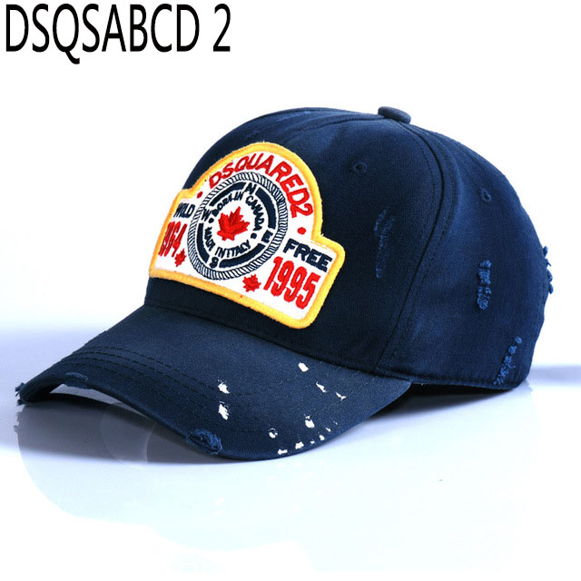 Hat Cap Baseball-Caps Dsq Blue Famous Brand Letter Adjustable Summer Cotton for Men Outdoor-Hat title=