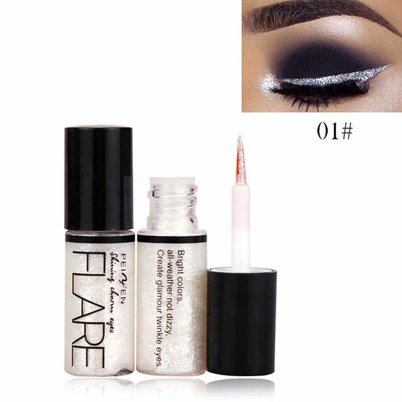 Delineador de glitter líquido prateado, maquiagem, delineador brilhante para mulheres, pigmento para os olhos, cosméticos coreanos, 1 peça