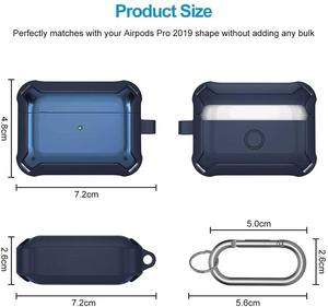 Image 3 - Soft Cover For Apple Airpods pro Case TPU PC Anti fall Cover For AirPods 2 3 Accessories Wireless Earphone Case With Keychain