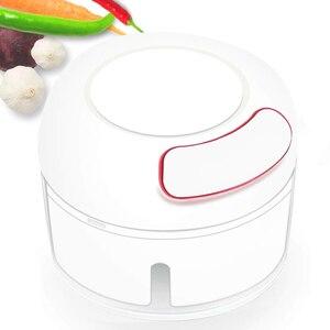 Manual Food Chopper Mini Gralic Grinder Press Mincer Food Processor for Chili Ginger Vegetable Fruits LAD-sale