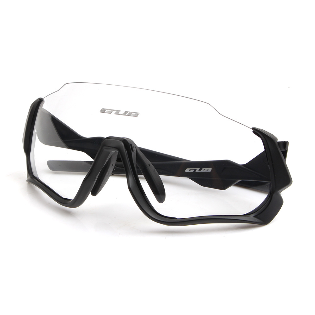 Gub 5800 Glasses For Riding Windproof Color Changing Goggles Outdoor Sports Running Eye Protection Glasses Strap Myopia