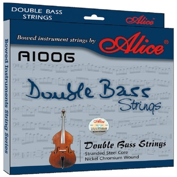 Alice Double bass Strings A1006 5 strings  Braided Steel Core Ni-Cr Winding Nickel-Plated Ball End Suitable for 3/4 double bass orphee nano coating electric bass strings for 4 5 6 strings bass hexagonal core 100