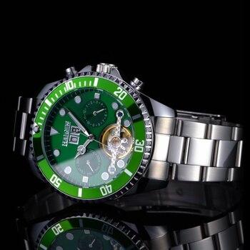HAIQIN Meccanico degli uomini/mens orologi top brand di lusso della vigilanza degli uomini di sport orologio da polso mens Reloj hombres 2019 tourbillon submarine