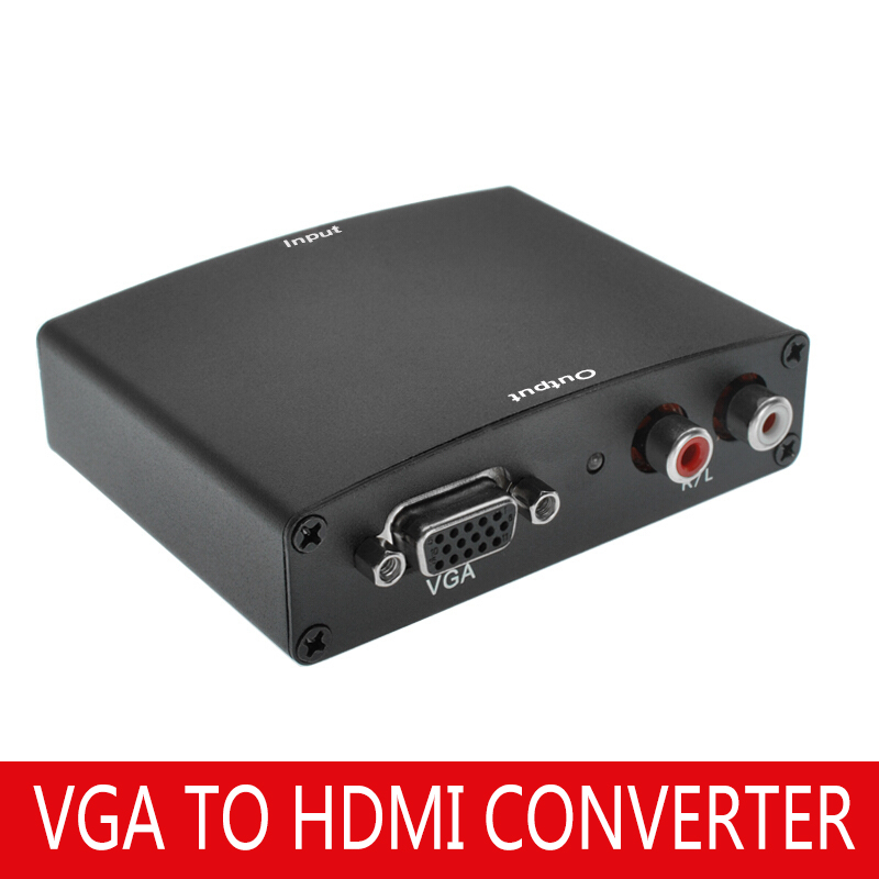 VGA To HDMI HD Converter With Audio Support 1080P HDMI To VGA Conversion Box VGA To HDMI HD Converter