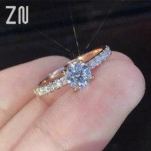 ZN Fashion Trendy Crystal Engagement Design Hot Sale Rings For Women elegant rings Female Wedding Bridal jewelry Gift
