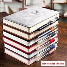 Cuaderno de cuero súper grueso para negocios, oficina y trabajo, diario con 360 páginas A5, bloc de notas agenda escolar, suministros