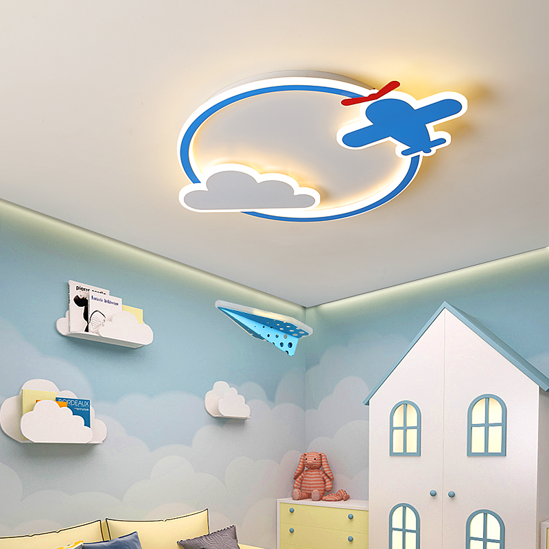 Children's LED ceiling light plane with remote control bedroom light study light acrylic light kid light Free shipping