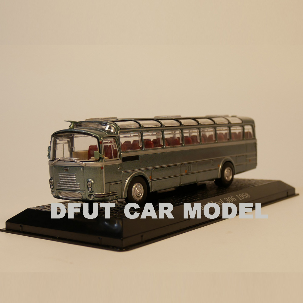 Van Hool 306 Bus Fertigmodell aus Die-Cast Metall in Vitrine 1:72