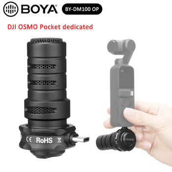 BOYA BY-DM100-OP Type-C Shotgun Microphone Omnidirectional Plug-in Digital Condenser Mic With Windshield for DJI OSMO Pocket