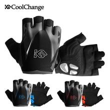 цена на CoolChange Cycling Gloves Summer Sports Anti-sweat GEL Bicycle Gloves Anti-slip Breathable Half Finger Bike Gloves For Men Women