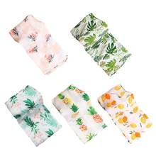 Муслин детское цветочное одеяло бамбуковое хлопковое Пеленальное