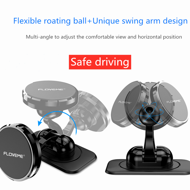 FLOVEME Magnetic Car Phone Holder For Samsung Note 10 Plus iPhone 11 Universal Phone Holder For Phone In Car Magnet Mount Stand 5