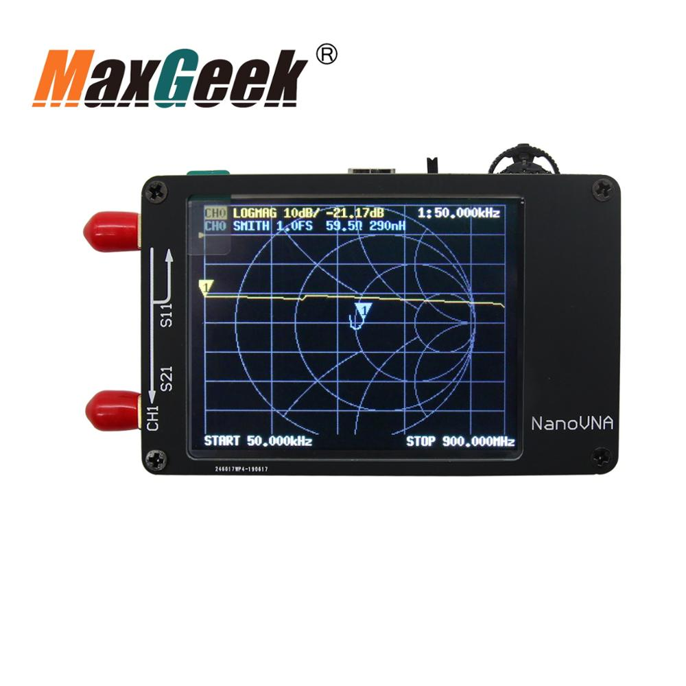 NanoVNA VNA 2.8 Inch LCD HF VHF UHF UV Vector Network Analyzer 50KHz ~ 900MHz Antenna Analyzer Built-in Battery