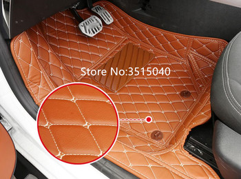 2 Colors PU Leather Special Car Floor Mats Custom Fit For Citroen C3-XR auto accessories Car Styling Carpet Cover