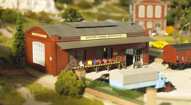 1:87 P 61833  Warehouses And Factories  Urban Building Model  Railway Sand Table Scene Matching  ABS Assembly