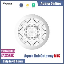 2021 mais novo aqara m1s hub gateway com rgb led night light zigbee 3.0 siri aplicativo de voz controle remoto casa trabalho mijia homekit