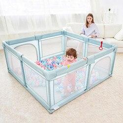 Детский манеж для детей мячи для бассейна для новорожденных сетчатый забор дышащий детский манеж для бассейна Детский защитный барьер для ...