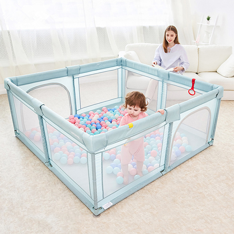 Baby Playpen For Children Pool Balls Newborn Mesh Fence Breathable Baby Pool Playpen Kids Safety Barrier Crawling Playground