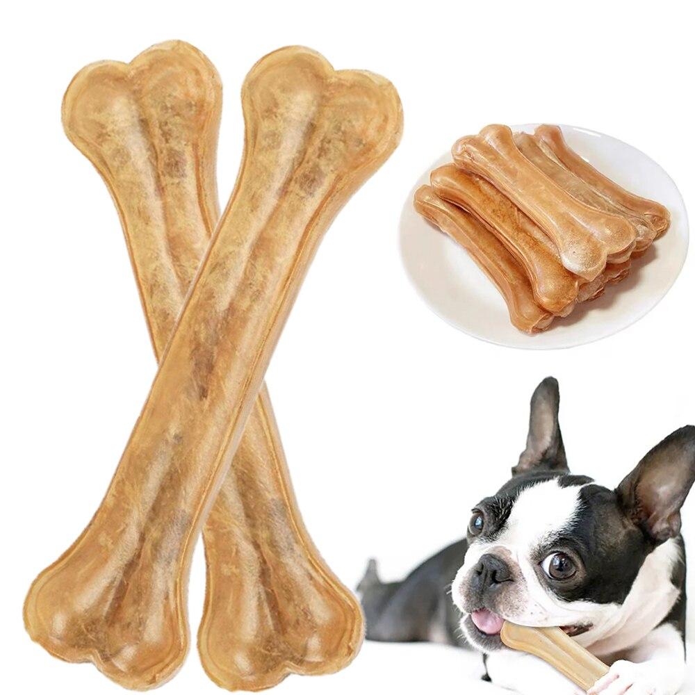2021 neue Hund Spielzeug Knochen Pet Kauen Zahnbürste Kleine Große Hunde Rindsleder Behandelt Welpen Kauen Knochen Spielzeug Für Zahnpflege zubehör