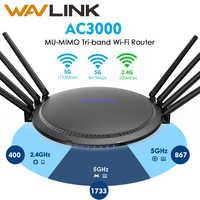 Wavlink AC3000 Gigabit WIFI Router inalámbrico rango wifi extensor WIFI amplificador de señal amplificador USB3.0 2,4G 5GHz trabajando en línea