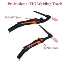 Profesyonel WP26 TIG meşale GTAW gaz Tungsten ark kaynak tabancası WP26FV Argon hava soğutmalı gaz vanası uzaktan kumanda TIG kaynak meşale