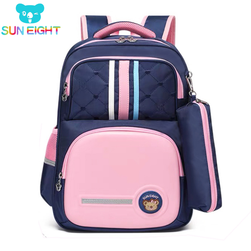 SUN EIGHT New Arrival Children Backpack School Bags For Girls Waterproof Nylon Mochila Escolar