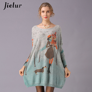 Image 3 - Jielur Sweater Women Cartoon Printed Long Sleeve Jumper Kawaii Knitted Sweaters Spring Autumn Pullover Basic Pull Femme