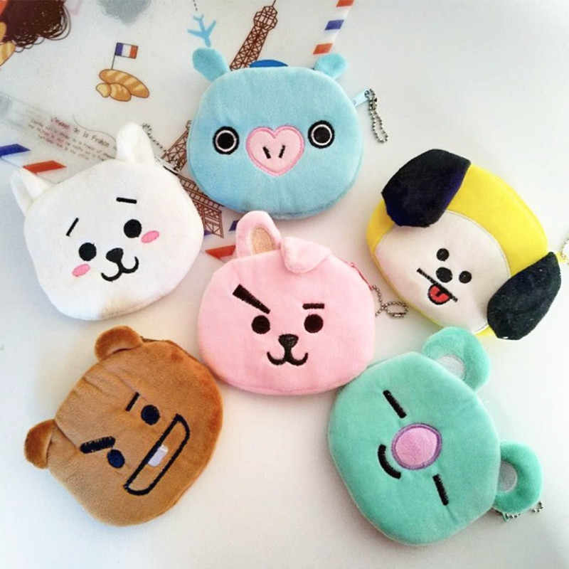 New Zipper Mini Coin Bag Plush Small Change Bag Children Cute Cartoon Animal Bear Small Purse Coin Pocket for Kids Gift