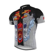 SUOTF Roaring wolf head breathable Men Women Sport Summer retro cycling jersey mountain shirt bicycle Cycling