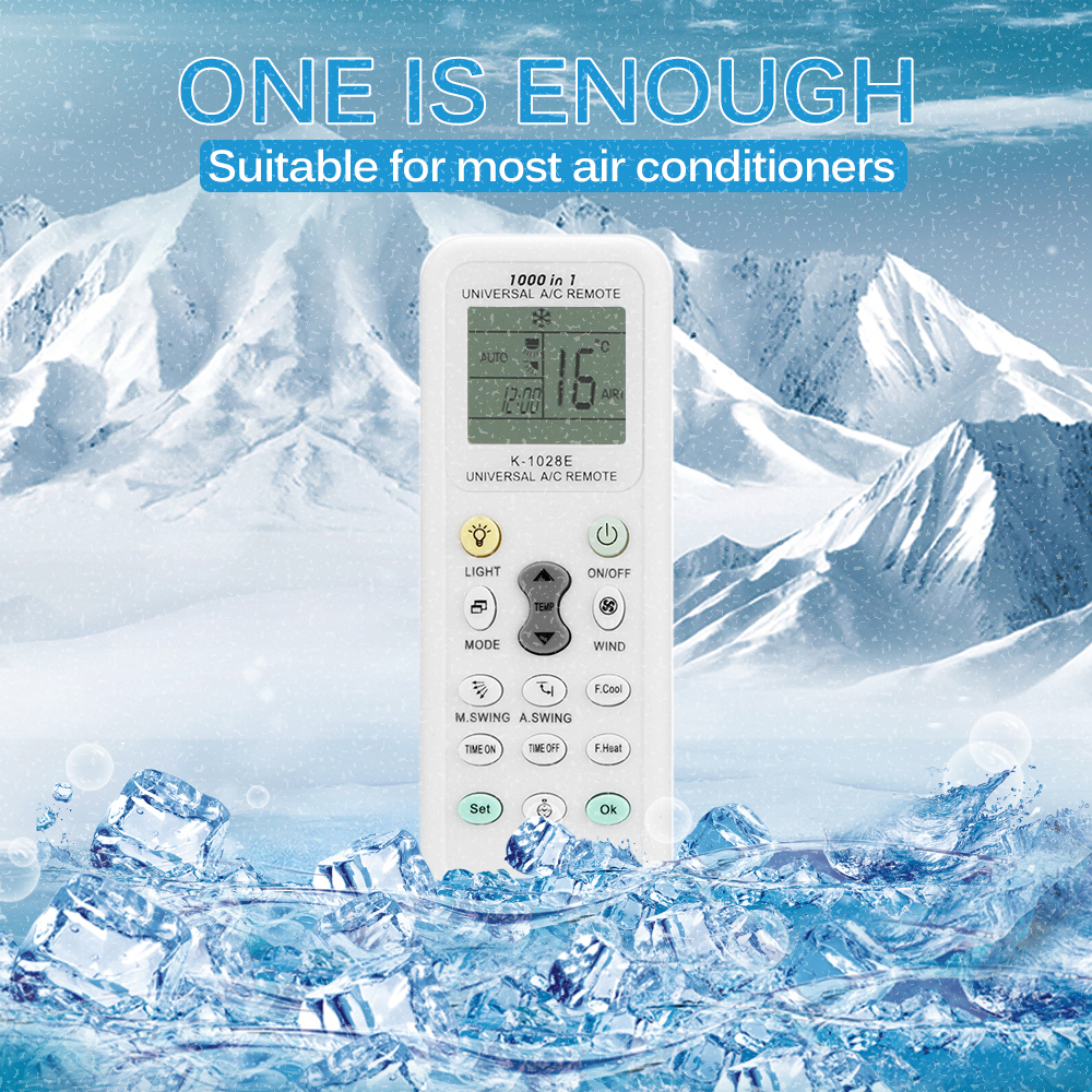 Universal K-1028E Low Power Consumption K-1028E Air Condition Remote LCD A/C Remote Control Controller Dropshipping