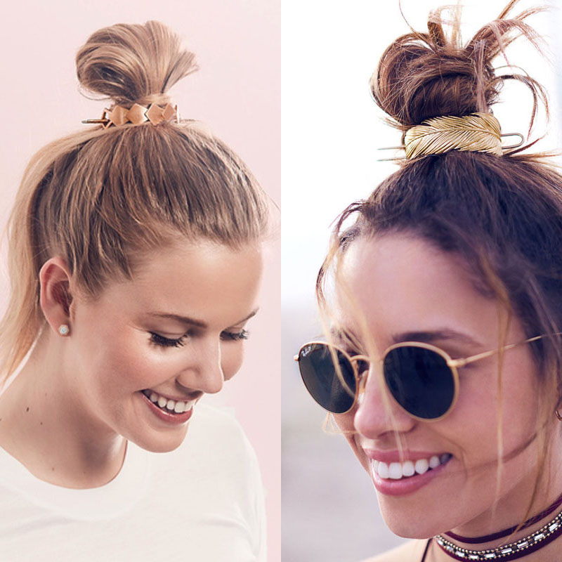 Original Design Alloy Round Top Hairpin Bun Cage Minimalist Bun Holder Cage Hair Stick Girl Hair Accessories Hair Jewelry