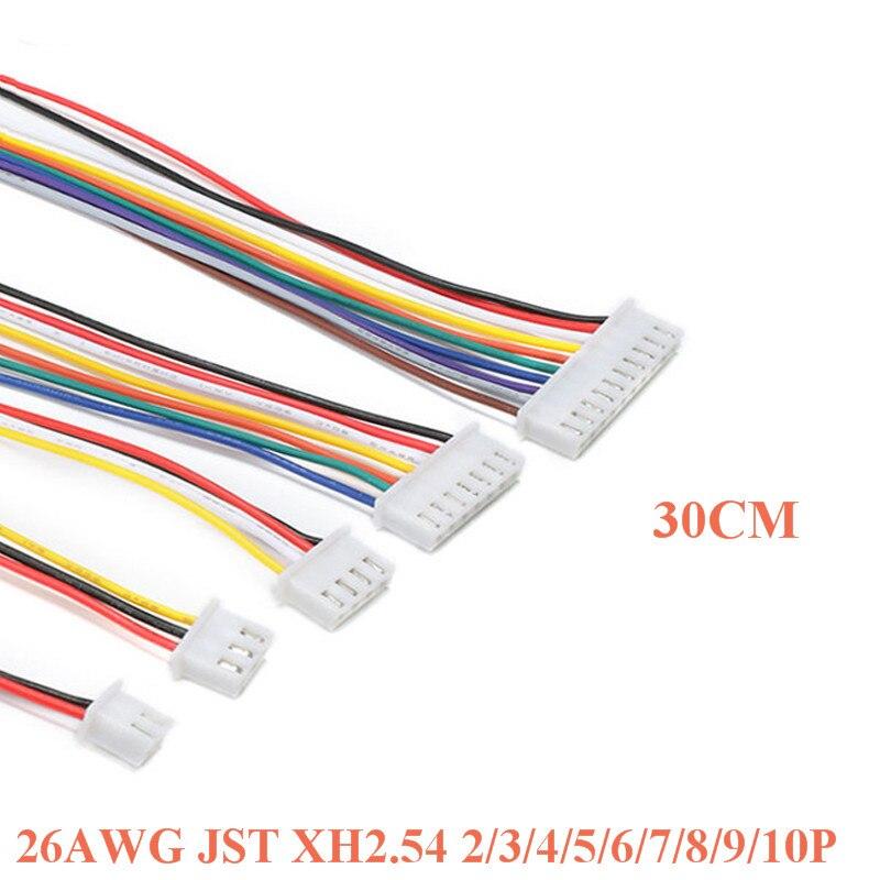 20 шт./лот 26AWG JST XH2.54 2/3/4/5/6/7/8/9/10P Pin XH 2.54 шаг 2,54 мм разъем с жильный кабель 300 мм 30 см Длина|Запасные части|   | АлиЭкспресс