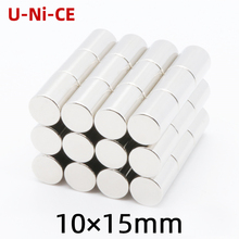 3/10/50pcs 10x15mm N35 Super strong powerful cylinder of rare earth neodymium magnets magnet 10*15mm