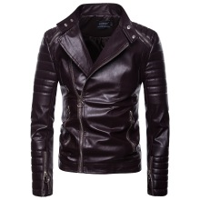 Mens Leather Jackets for Winter Wear Biker Jacket Men Brown