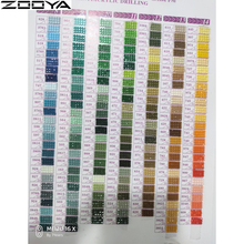 Zooya 5d Diamant Schilderij Accessoires Diamant Borduurwerk Dmc Strass Mozaïek Kleurenkaart Volledige Ronde/Vierkante Boren Diamond Tool